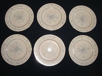 Noritake Carolyn 2693 Lot of 6 Bread + Butter Plates Very Nice Condition 6 1/2""