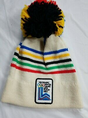 vtg XIII OLYMPIC WINTER GAMES LAKE PLACID 1980 OLYMPICS TASSEL CAP HAT NWOT