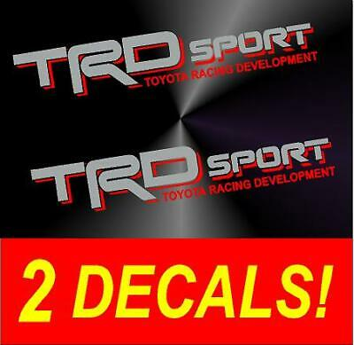 TRD ZOMBIE RESPONSE TEAM Decals Toyota Tacoma Tundra Truck Vinyl Stickers X2