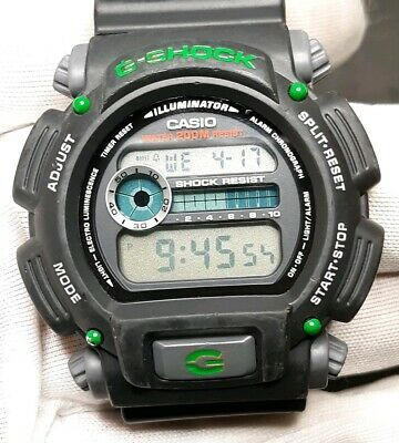 Classic Vintage Casio G-Shock Green Edition Chrono Mens Watch 200M Diver Sports