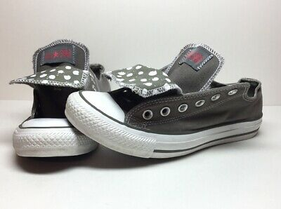 ff764a72e289 DOUBLE TONGUE CONVERSE All Star Tennis Shoes~size 2 Junior Gray pink ...