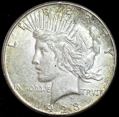 1923 S Peace Silver Dollar, Almost Uncirculated+ Condition, Free Shipping, C4021