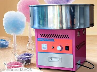 1000W Electric Commercial Cotton Candy Maker Fairy Floss Machine Stainless Steel