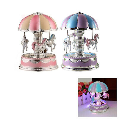 Toys For 6 7 8 9 10 11 Year Old Girls Music Box Merry-Go-Round LED Kid Birthday