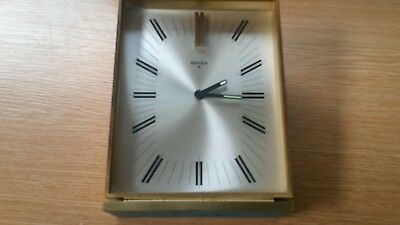 Very Rare Vintage 8 Day Mantel Clock Genuine Authentic Swiza Original 1.06 Kilos