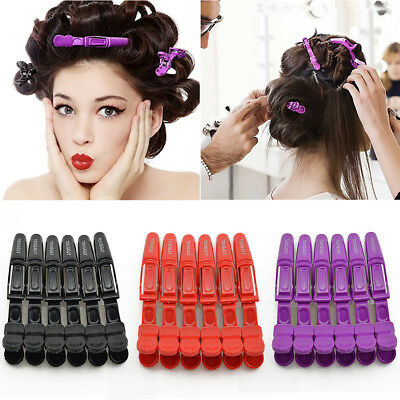 6PCS Fashion Hair Clips Hairdressing Cutting Salon Hair Styling Tools For Women