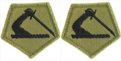 2 Pack Massachusetts Army National Guard OCP Scorpion Hook Back Military Patches