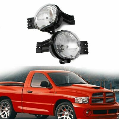 1 Pair Fog Lights Driving Bumper Lamps For 02-08 Dodge Ram 1500 2500 3500 Pickup