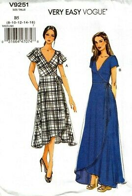Vogue Sewing Pattern V9251 9251 Misses Dress Very Easy Vogue NEW size 8-16