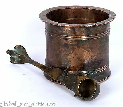 Indian Copper Religious Holy Water Pot Hindu God Antique Decorative. G53-152 US