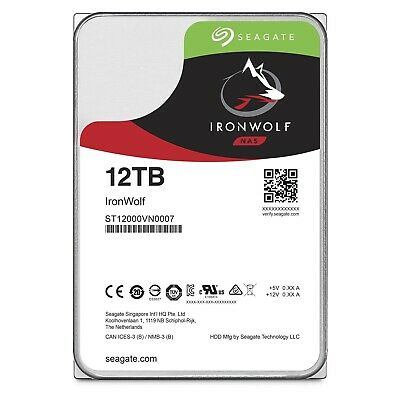 "Seagate IronWolf 12TB 3.5"" SATA Internal NAS Hard Drive HDD 7200RPM 256MB Cache"