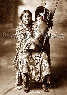 Photo Indian Native American Comanche Cradle Board #2