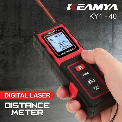 KEAMYA 40m Laser Distance Measurer Meter Range Finder Area Volume Digital