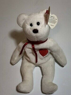 201798a55db RARE RETIRED Ty Valentino Beanie Baby- with Swing Tag   Tush Tag Error ...