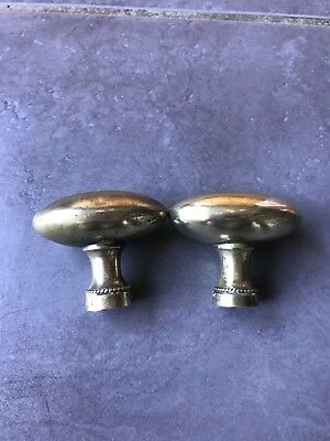 Pair Of Vintage French Brass Door Knobs