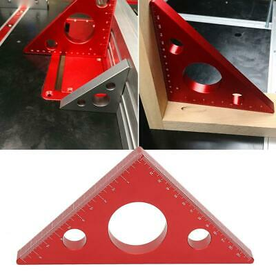 Aluminum Alloy Triangle Right Angle Ruler Woodworking Measuring Gauging Tool