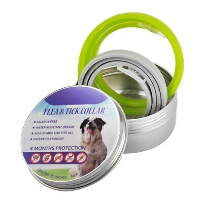 2PCS Flea and Tick Collar for Dogs & Cats 8 Month Protection Waterproof Natural