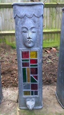 Stained glass and planter