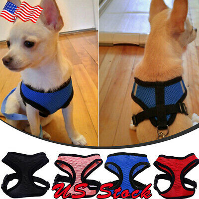 Cat Dog Pet Harness Chest Strap Puppy Vest Breathable Mesh Harness Dog Leash