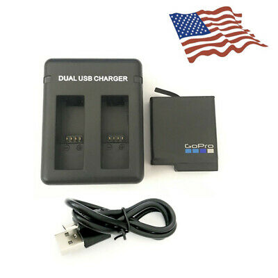 1220mAh For GoPro Hero5 Black Rechargeable Lithium Go Pro Battery charger US