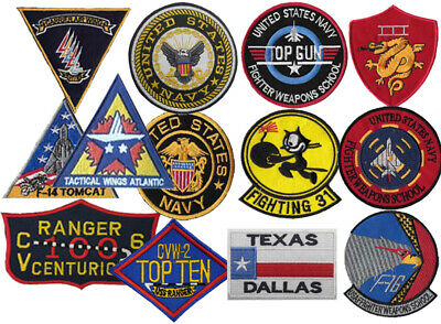 Top Gun in Various Badge Embroidered Patch Sew/Iron - on 10cm