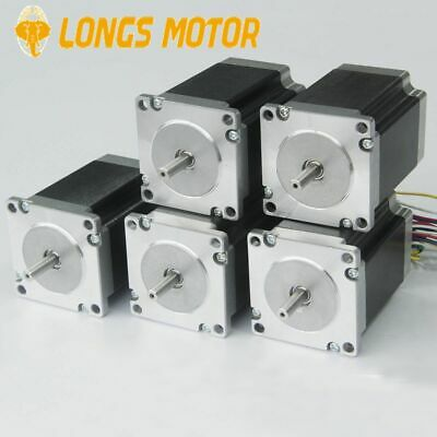 【EU Free Ship】 LONGS 5PC Nema23 Stepper Motor 23HS8430  270oz-in 3A 76mm CNC