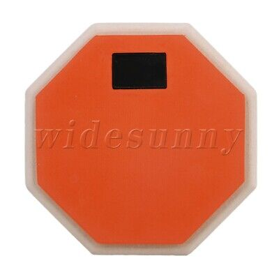 6 Inch Soft Rubber Wooden Base Double Sided Practice Pad for Dumb Drum Orange