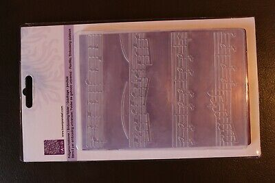 - Embossing Folder Musiknoten,  Scrapbooking, Basteln,Big Shot Prägeschablone
