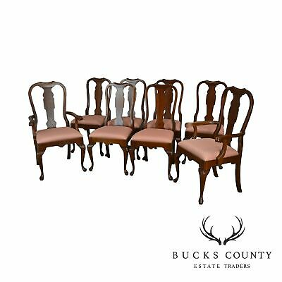 Pennsylvania House Solid Cherry Set of 8 Queen Anne Dining Chairs
