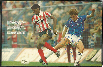 Football Autographs Kevin Dillon & Mark Chamberlain Birmingham City FC F766