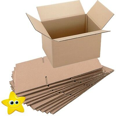 """50 x STRONG CARDBOARD POSTAL REMOVAL BOXES 14x14x14/"""" DW 24HR DEL"""