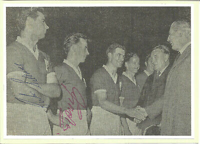 Football Autographs Johnny Gordon & Graham Sissons Birmingham City FC F773