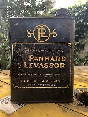 Bidon Huile Panhard Oil Can Öl Dose Tin Oil