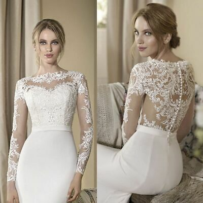 2020 NEW HOT Lace Wedding Jackets Bridal Long Sleeve Boleros/&Stole/&Shawl Custom