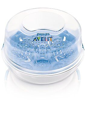 Philips Avent - Bottle Sterilizer Steam for Travel Microwave Compact New