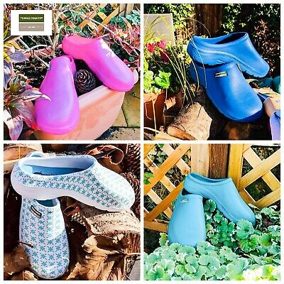 UNISEX GARDENING SHOES MENS WOMENS LADIES SLIP ON CLOGGIES CLOGS sizes 4 5 6 7 8