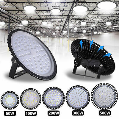 50W- 500W Ultra-thin LED High Bay Light Fixture Commercial Warehouse Gym Lamp AU