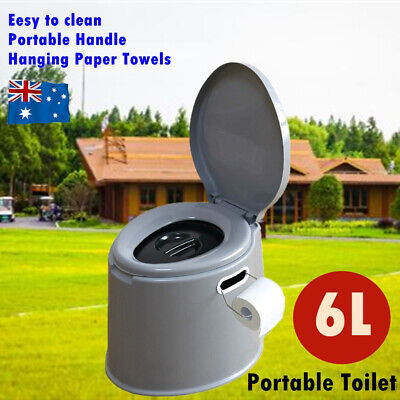 6L Outdoor Portable Toilet Camping Potty Caravan Travel Camp Boating Tent Hiking