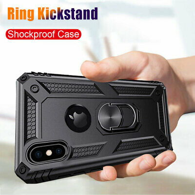 Military Armor Case for iPhone XS Max/XR X 7 8 Plus Magnetic Ring Holder Cover