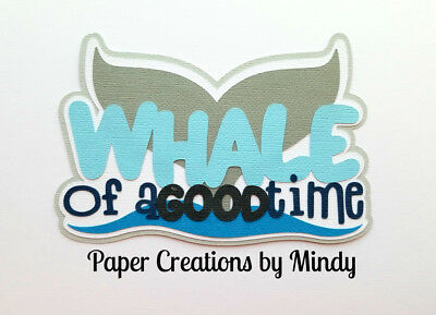 CRAFTECAFE MINDY DOLPHINS TRAVEL premade paper piecing scrapbook title diecut