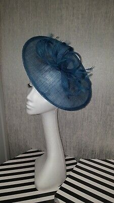 teal green fascinator Hatinator for wedding the races disk Ascot