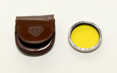 Ex Rollei Rolleiflex Bay II Medium Yellow Filter with Leather Case