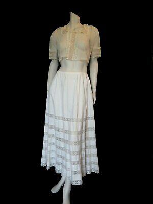 Boho Skirt - Antique Lace Petticoat - Victorian or Edwardian - Small