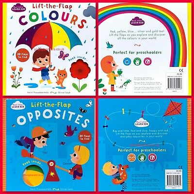 Colours Lift the Flap Book for Toddlers, Pre School Kids, Early Learning, NEW
