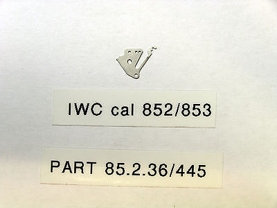 IWC cal  852 853   Setting lever spring  tirette  part 85 2 36     445