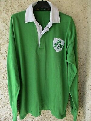 Maillot rugby IRLANDE IRELAND World Cup IRB 1991 vintage shirt jersey home XL