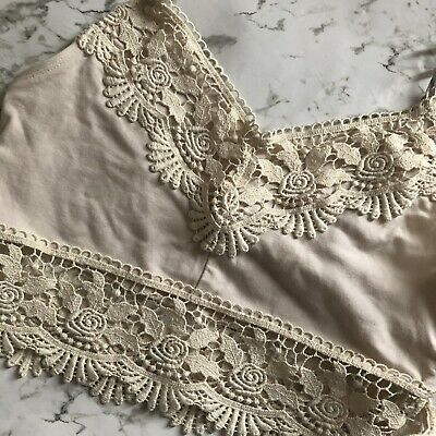 b3a3fa04efdb0b NEW TOPSHOP CREAM Bobble Knit Lace Crop Top Sizes 6 To 16 - $5.67 ...
