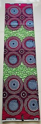 Ankara Supreme Wax African Fabric 100/% Cotton Colourful Patterns 1 YD or 6 YARDS