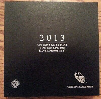 2013 U S Mint Limited Edition Silver Proof Set - Edges Nicely Toned