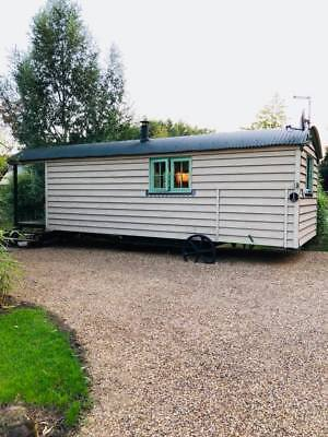 Shepherds hut short breaks 2 nights £190.00 plus £50.00 Damage deposit